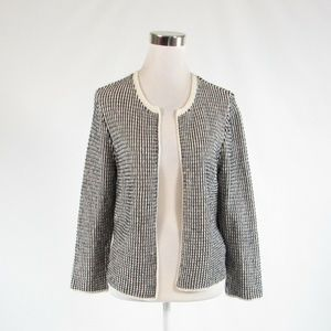 White black ANN TAYLOR cardigan sweater M
